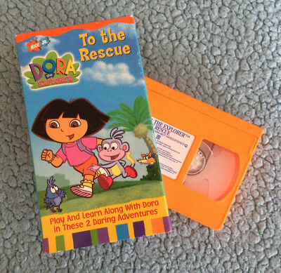 DORA THE EXPLORER TO THE RESCUE [Nickelodeon]   VHS   Very Good Condition
