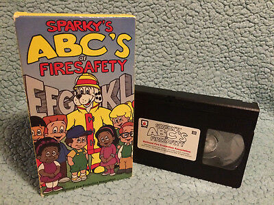 SPARKY'S ABC'S OF FIRE SAFETY [Classroom Resource]   VHS   Very Good Condition