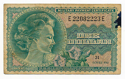 US Military Payment Certificate MPC Dollar $1 Note Series 692