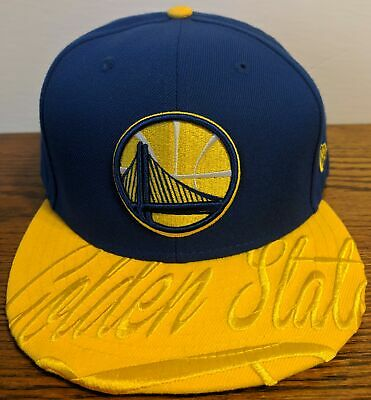 size 40 3b321 26bf2 GOLDEN STATE WARRIORS New Era Royal Visor Script 59FIFTY Fitted Hat 7 3 4  NWT