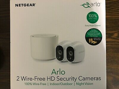 Arlo VMS3230 HD 1280 x 720 Wireless Security System with 2 Cameras - White.  New