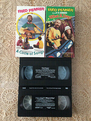 """FRED PENNER - 2 VHS Tapes   """"What a Day"""" & """"A Circle of Songs""""   feat Al Simmons"""