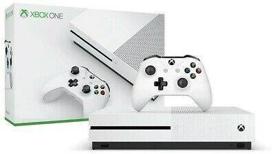 Microsoft Xbox One S 1TB White Gaming Console -(Console Only, No Controller) NEW