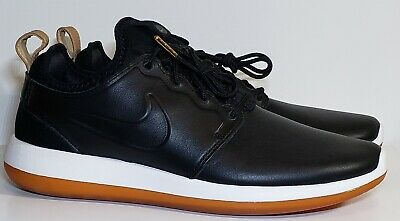 best loved 9884d a44a7 Nike Roshe Two Leather Premium Mens Size 8.5 Shoes Black White Gum  881987-001