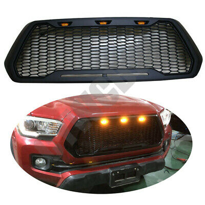 Fit For Toyota Tacoma TRD Pro 2016-2017 W/ LED Lights Front Bumper Grilles Refit