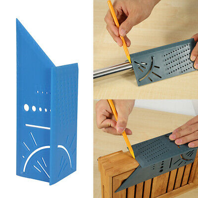 3D Rule Square Layout Miter 45° 90° Metric Rule with Pen for Woodworking V6P9