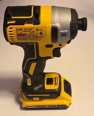 "DEWALT Dcf885 20v 20 Volt Max Lithium Ion 1/4"" Impact Driver With 1 20v Battery"