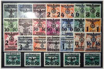 #53 German Occupation of Poland/Generalgouvernement cpl. 14-39 OVERPRINTS MNH **