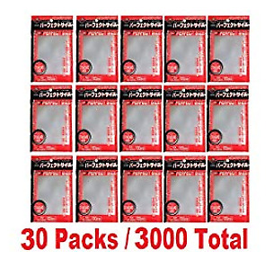 KMC Card Barrier 100 pieces Perfect Size 64×89 Sleeves  30 packs set F/S economy