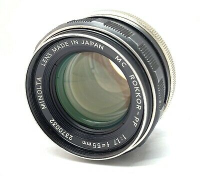 [ Excellent++ ] Minolta MC Rokkor-PF 55mm f/1.7 MF Lens MD Mount From Japan #197