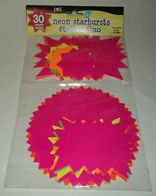 NEON STARBURSTS 30 ct. For School, Home Or Office New In package