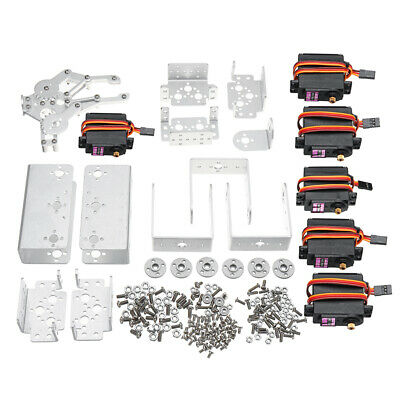DIY Aluminium Robot Arm Mechanical Robotic Clamp Claw Mount Servo Kit Set H3F6