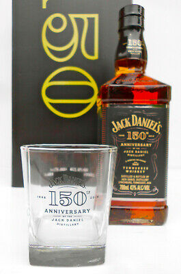 Jack Daniel's 150th Anniversary Limited Edition Tennessee Whisky 700ml & Glass!