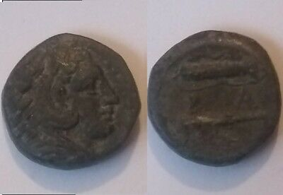 Alexander 336 BC Rare genuine Ancient Greek Coin HERCULES club bow quiver