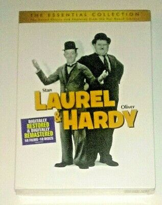 Brand New! Laurel & Hardy: The Essential Collection. 10 Disc Dvd Set. Ships Free