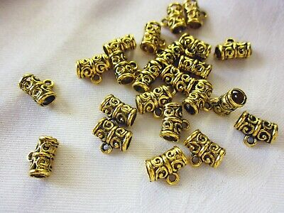 10 Antique Gold Coloured 10mmx8mm Charm Pendant Bails #2025 Jewellery Making