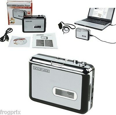 Lecteur Convertisseur De Cassette Audio Vers Pc Au Format Mp3 Via Port Usb