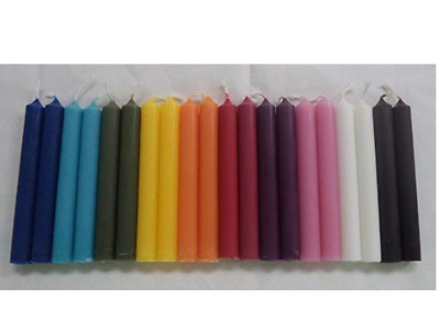 """Mini 4"""" Chime Spell Candle Magick Set: 20 Candles - 10 Assorted Colors! 2019 NEW"""