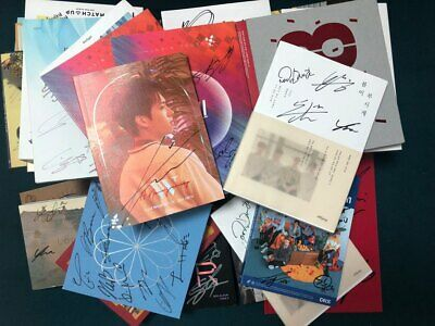 KOREA BOY GROUP Autograph ALL MEMBER Signed PROMO ALBUM KPOP signature