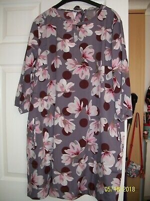 Pretty floral 3/4 sleeve ladies summer dress/long top- size 20-Anthology