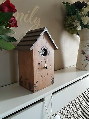 BNIB   Next Rustic Wooden Cuckoo Clock  Shabby Chic Country Cottage Quirky Chime