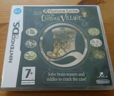 Professor Layton And The Curious Village - Nintendo DS Box with manual NO GAME