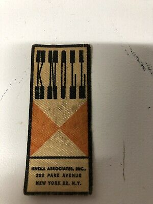 Knoll Associates Park Avenue Ny Large Bowtie Fabric Label Sarrinen Table #2