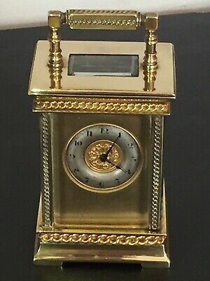 Vintage Of 1910 French Mechanical Move, Gold Plated, Carriage Clock In G.W.Order