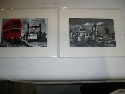 "Two Small London Scene Prints New 8"" X 6"" To Frame See Pictures"