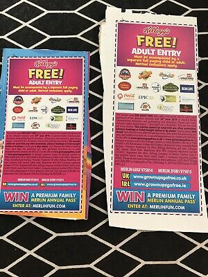 2 X Free Adult Entry Alton Towers, Chessington, Thorpe Park And Lots More