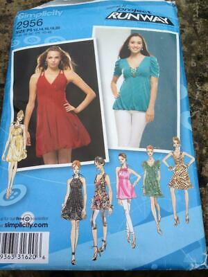Simplicity Sewing Pattern 2956 Dresses or Tunics 12-20 Project Runway Uncut
