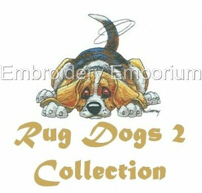Rug Dogs 2 Collection - Machine Embroidery Designs On Cd Or Usb