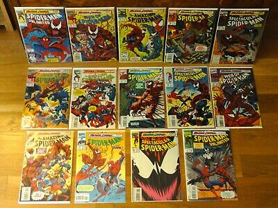 COMPLETE SET of Maximum Carnage Storyline (1993) - Spider-Man - Marvel Comics!