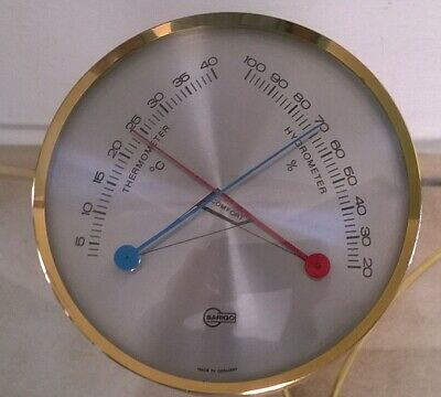"Thermometer Hygrometer  "" BARIGO ""  Messing"