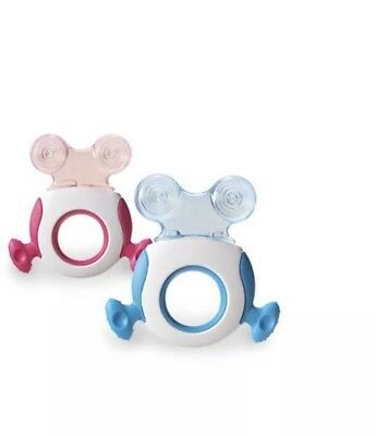 Tommee Tippee Closer to Nature Teether Stage 2 GIRLS PINK Twin Pack 2