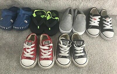 Baby Boy Converse Shoes Bundle NEXT crocs Pumps Size 5 6 HUGE bundle