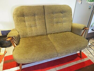 Ercol two seater settee - reupholstered