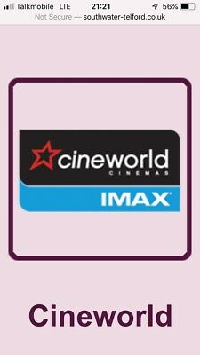READ! 2 Adult Cinema Tickets - 3D IMAX  DBox Superscreen Screen X Cineworld.