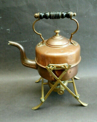 Antique Copper And Brass Tipping Kettle By William Soutter & Sons Arts & Crafts