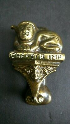 Antique Vintage Brass Door Knocker Chester Imp Original Salvage