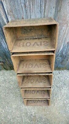 Vintage Hovis Bread Tins Small Rack Of Five Old Metal Industrial Tin Kitchenalia