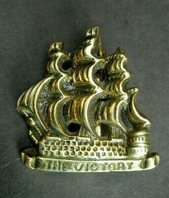 Antique Vintage Brass Door Knocker The Victory Galleon Warship Original Salvage