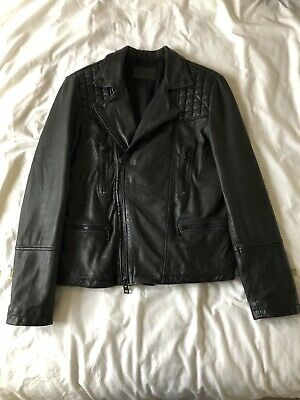 Mens All saints Leather Jacket Small Mens