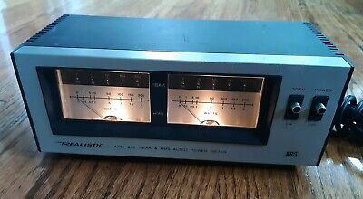 Realistic VU Power Meter Peak/RMS Output Wattage Analog APM-200 stereo audio OLD
