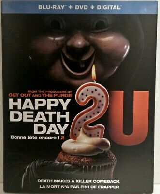 Happy Death Day 2U (Blu-Ray/DVD/Digital , 2019, Canadian Slipcover)