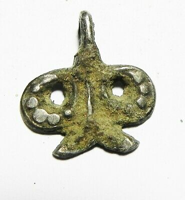 Zurqieh - As12601- Ancient Holy Land Silver Pendant. Iron Age. 900 - 600 B.c