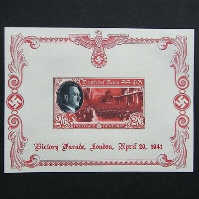 Germany Nazi 1941 Stamp MINT Sheet Adolf Hitler Swastika Eagle WWII Third Reich
