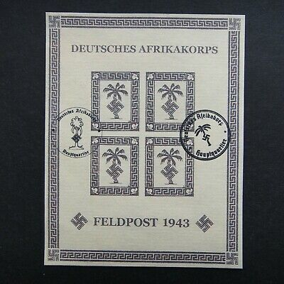 Germany Nazi 1943 Stamps Used Tunis Tunisia Feldpost AFRIKA KORPS Third Reich Ge