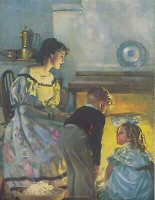 "Uncirculated ""These Art my Jewels"" Andrew Loomis Sutherland Press Lithograph"