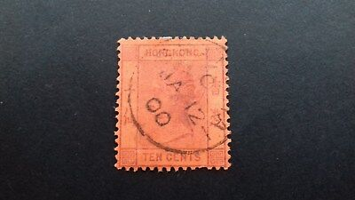 Stamps Hong Kong 1891 Queen Victoria  10 cent Used